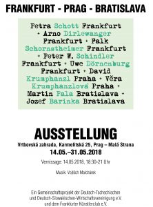 Ausstellung Frankfurt-Praha-Bratislava in Praha 2018