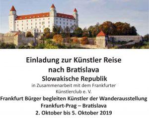 Künstler Reise nach Bratislava
