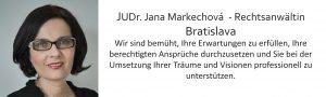 JUDr. Jana Markechová, Rechtsanwältin, Bratislava, Kooperationspartner