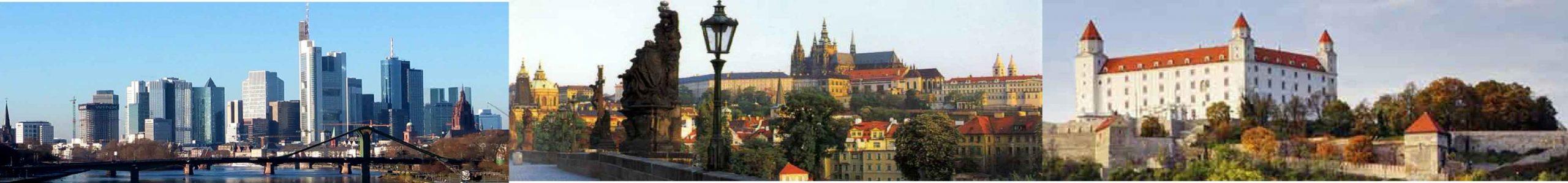 Frankfurt Praha Bratislava